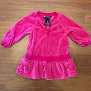 Ralph Lauren 12 month pink velvet dress